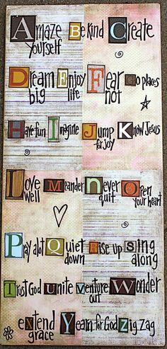 ABC's of Life...Love it!
