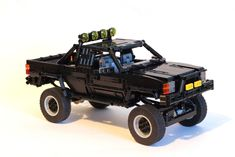 [MOC] Back to the Future Toyota by paave Toyota Hilux, Autos Toyota, Bmw Autos, Toyota 4x4, Lego Camper, Lego Technic, Legos, Lego Truck, Lego Speed Champions