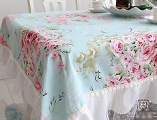 IDEA - adding lace and trim to floral print for curtains