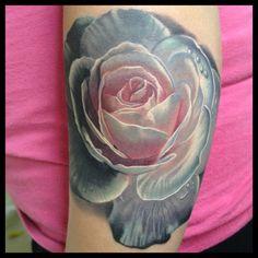 Very Pretty Rose Tattoo by Phil Garcia for Mrs. Garcia <3