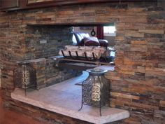 rustic huge stone fireplace mantel photo gallery plus wrought iron candle lanterns idea