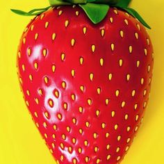 Giant Strawberry Cake | HOW TO CAKE IT Giant Strawberry, Strawberry Seed, Strawberry Cakes, Giant Cake, Pink Food Coloring, Strawberry Buttercream, Pink Foods, Cake Decorating Supplies, Cake Cover