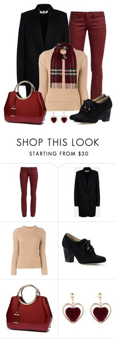 """""""Untitled #1596"""" by gallant81 ❤ liked on Polyvore featuring Freeman T. Porter, STELLA McCARTNEY, Joseph, Lands' End and Burberry"""
