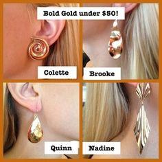 Bold Gold Earrings