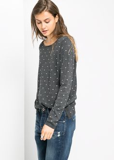 Pull-over à pois relief - Mango