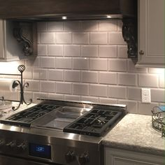 FREESTYLE by GIO wall tile in a kitchen renovation. #walltile #commercial #tile #interior #design