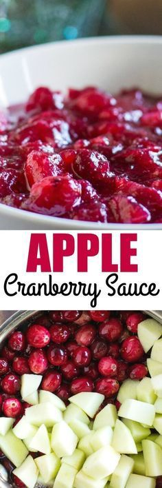 Culinary Hill Update your Homemade Cranberry Sauce with apples for a simple and sweet twist on the classic Thanksgiving side. Tasty without getting too crazy! Cranberry Apple Sauce, Cranberry Recipes, Apple Recipes, Fall Recipes, Holiday Recipes, Homemade Cranberry Sauce, Homemade Sauce, Bob Evans Cranberry Relish Recipe, Apple Desserts
