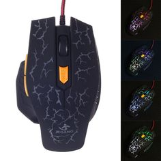 JM-1949 USB 2.0 Wired 800 1200 1600 2400dpi 6-Key Professional Gaming Mouse - Black