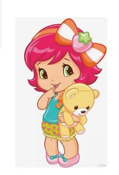 How cute baby strawberry shortcake Strawberry Shortcake Cartoon, Strawberry Baby, Girl Clipart, Cute Clipart, Cute Images, Cute Pictures, Beautiful Pictures, Colouring Pages, Coloring Books