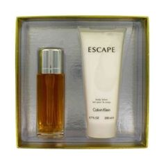 ESCAPE by Calvin Klein Gift Set -- 3.4 oz Eau De Toilette spray + 6.7 oz After Shave for Men by Calvin Klein. $67.00. Brand New Sealed In The Box. Launched by the design house of Calvin Klein in 1993, ESCAPE is classified as a refreshing, spicy, lavender, amber fragrance. This masculine scent possesses a blend of mandarin, apple, plum, peach, rose and sandalwood.