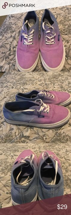 Ombré Vans Cute pair of kicks!  Light wear.  White edging shows dirt, but these should clean up in wash! Vans Shoes Sneakers