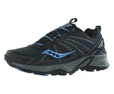 hot sale online eae12 8b91f Saucony Womens Excursion TR8 Trail Running Shoe,BlackBlue,5 W US