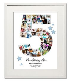 Child's Star Number Collage - Treasure on the Wall Ltd
