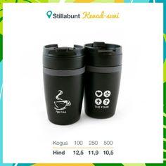 Kvaliteetsed termoskruusid 280 ml. Lisandub KM. Coffee Tumbler, 9 And 10, Travel Mug, Mugs, Tableware, Silver, Dinnerware, Coffee Cup Set, Tumblers