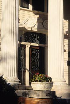 Entrance, Goodwin House, Raleigh, Wake County, North Carolina
