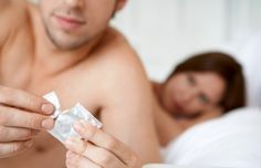 The male condom is placed over the male penis before sexual intercourse.  Typical usage failures are 15 %, and perfect usage is 2%.  Advantages are prevention of STI's, pregnancy and easy to purchase.  Disadvantages are loss of sensation and application prior to sex.  The condom can be purchased over-the-counter.--Breaking the Contraceptive Barrier: Techniques for Effective Contraceptive Consultations. ARHP: 2008