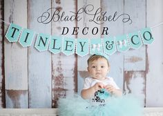 Perfect for a Tiffany & Co. themed bridal shower or Bachelorette! And the name of your bride, and you're party ready! The 3D bows and Swarovski Crystals add the perfect elegant touch to the banner! www.blacklabeldecor.com #bride #tiffanyandco #bachelorette