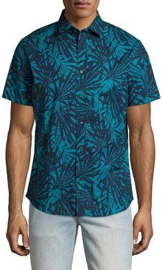 Slate & Stone Men's Palm Print Sportshirt