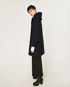 Image 4 of COAT WITH WRAP COLLAR from Zara