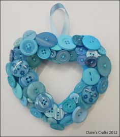 'Turquoise Delight' Button Heart A mix of new and vint