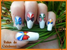 Sailor Moon nail art by anubis-pumpkinqueen.deviantart.com on @deviantART