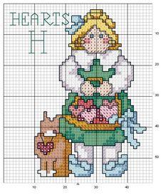 Schema punto croce Abc Girls 08