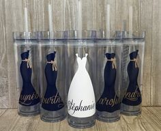 Set of 5 Personalized Bridesmaids by SmithAveDesigns on Etsy