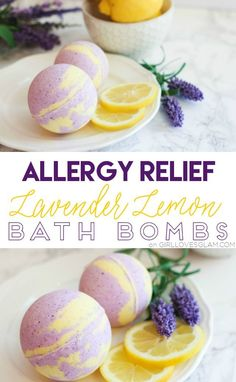 Allergy Relief Lavender Lemon Bath Bombs on www.girllovesglam The post Allergy Relief Lavender Lemon Bath Bombs on www.girllovesglam appeared first on Diy. Diy Spa, Diy Lush, Homemade Beauty, Homemade Gifts, Diy Beauty, Beauty Hacks, Bath Boms, Homemade Bath Bombs, Diy Bath Bombs