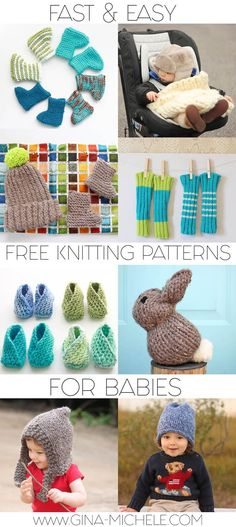 Fast & Easy FREE knitting patterns for babies!!!