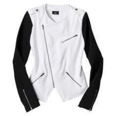 NWOTSuper Cute Jacket Super Cute Black Sleeve White Jacket. Never Worn. 76% polyester, 20% Rayon, 4% Spandex Mossimo Supply Co Jackets & Coats