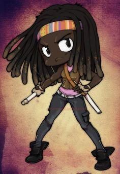 The Walking Dead chibi: Michonne by *neoanimegirl on deviantART