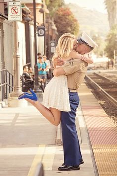 Beautiful military engagement photo by @Brianna Caskey!