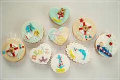 Deniz temalı butik bebek kurabiyeleri...