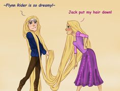 Jackunzel - Rise of the Brave Tangled Dragons...I don't ship it as much as Jack and Merida...But of well :)