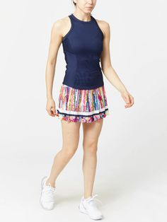 Lucky in Love Women's Long Techno Stripe Pleated Skirt Tennis Wear, Tennis Warehouse, Lucky In Love, Sport Wear, Pleated Skirt, Techno, Stylish Outfits, Active Wear, Gym Shorts Womens