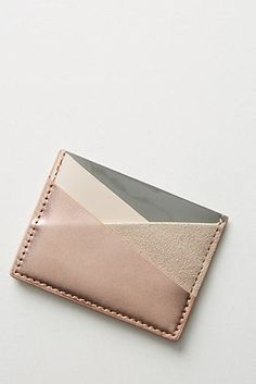 ShopStyle is where fashion happens. Find the latest couture and fashion designers while shopping for clothes, shoes, jewelry, wedding dresses and more! Leather Wallet Pattern, Leather Card Wallet, Leather Gifts, Leather Craft, Simple Wallet, Diy Wallet, Wallet Tutorial, Crea Cuir, Wallets For Women Leather