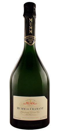 G.H. Mumm  Mumm de Cramant    A citrusy bouquet leads to an elegant palate of fresh lime and grapefruit flavors; pairs well with prosciutto and melon as well as grilled swordfish.   Rating: 16/20  Price: $75