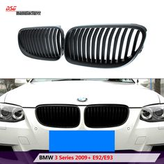 2010 - 2013 lci e92 replacement black abs bumper grill also fits for bmw 3 series 2 door lci e93 carbiolet
