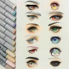 Manga Drawing Tips - HuntingAnime have the greatest selection of anime merchandise to offer with the most popular anime brands.Selected by fans for fans, find what's new today.This is a site you don't want to miss. Copic Kunst, Arte Copic, Copic Art, Copic Sketch, Eye Sketch, Realistic Eye Drawing, Manga Drawing, Drawing Tips, Drawing Faces