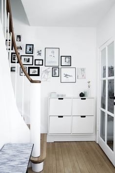 Ikea 'Ställ' cabinet in white & black home