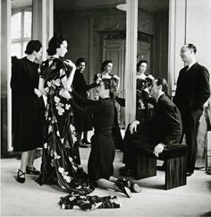 Christian Dior and team: Dior, by Willy Maywald