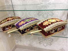 Doli boxes- Vrishti Creations 9669207565 , 9826116090 Wedding Art, Wedding Crafts, Wedding Decorations, Engagement Ring Platter, Trousseau Packing, Diy Storage Boxes, Gift Wraping, Wedding Gift Wrapping, Wedding Sweets