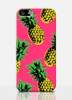 PINEAPPLE print mobile phone case. Available on: IPhone 4, IPhone 5, Samsung S3, Samsung S4. By TheSmallPrintCases, £10.99