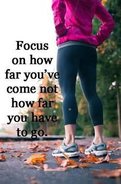 Exercise motivational quote that involves focusing your mind