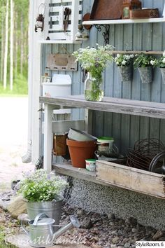 Gnome Garden, Container Gardening, Shed, Home And Garden, Plants, House, Outdoor, Beautiful Things, Garden Ideas