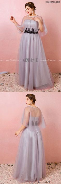 10% off now Custom Elegant Light Purple Long Tulle Wedding Party Dress with Cape Plus Size High Quality at GemGrace. Click to learn our pro custom-made service for wedding dress, formal dress. View Wedding Reception Dresses for more ideas. Stable shipping world-wide. Tulle Wedding, Wedding Party Dresses, Bridesmaid Dresses, Reception Dresses, Wedding Reception, Mother Of The Bride Looks, Affordable Dresses, Cape Dress, Wedding Rentals