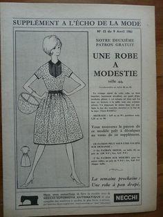 Fashion / Sewing Pattern-Echo de la Mode 1961 - Dress modestly - T 44