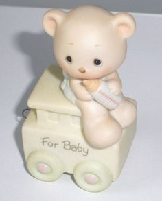 Vintage Precious Moments newborn baby train by EarthlieTreasures, $10.95