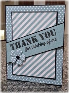 """MFTWSC167 """"THANK YOU for thinking of me"""" card"""