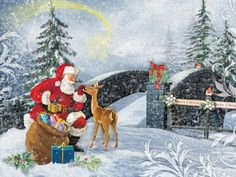 Santa Meeting At The Bridge